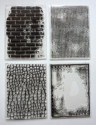Clear Acrylic STAMPS Choose Various Designs  Mixed Media Crafting 1 Sheet