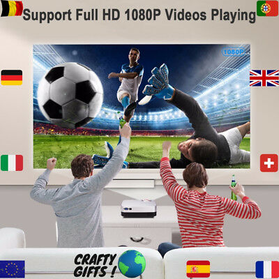 Mini Video Projecteur HDM Android Home Cinema DLP Led Beamer Portable 4K Airplay