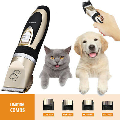 Mute Set Pet Cat Dog Fur Hair Cordless Trimmer/Clipper/Shaver Professional Kit