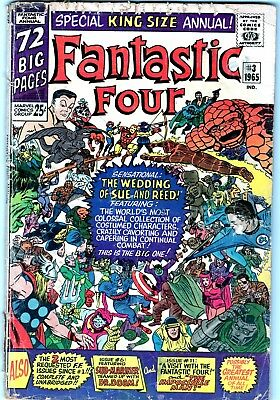 """FANTASTIC FOUR ANNUAL #3  """"The Wedding Of Sue And Reed"""" SUPER COVER!-NO RESERVE"""