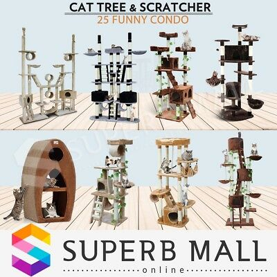 Cat Scratching Post Tree Condo Furniture Scratcher Pole Toy Gym House