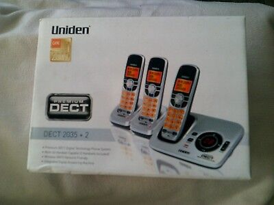 Uniden Dect 2035+2 Digital Cordless Phone With W 2 Handsets System Answering 3