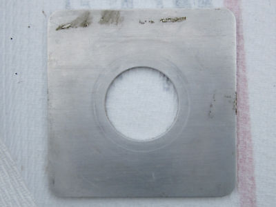 """114x114mm lens board rounded corners, 1.75""""/44mm hole"""