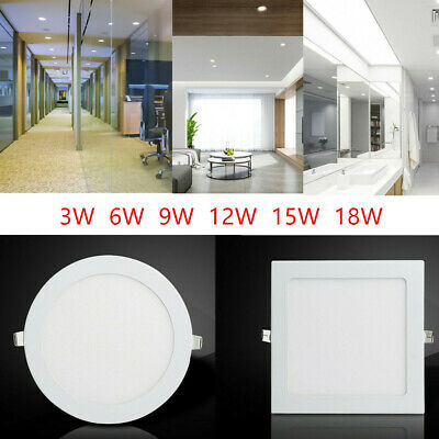 Ultra Thin Led Recessed Panel Ceiling Light,flat Spot Downlights Christmas Deal