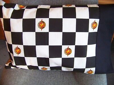 Travel Size Pillow Case Black & White Checkered Pattern Winston Cup Nascar/#7797