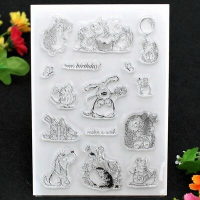 happy birthday make a wish Scrapbook DIY stamp clear stamp transparent stamp
