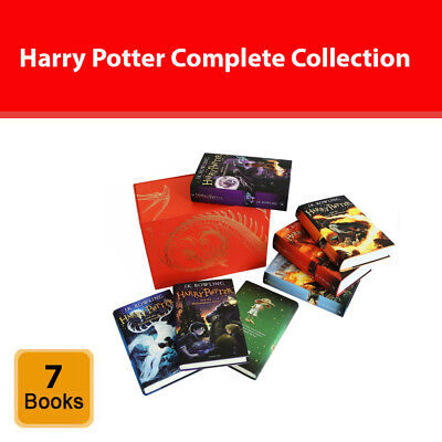 Harry Potter complete collection 7 books box set J.K.Rowling Hardback Red NEW