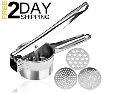 Stainless Steel Mash Potato Ricer Masher Baby Food Strain Large Cooking Strainer