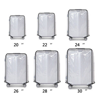 Universal Waterproof Transparent Protective Luggage Suitcase Cover Case Travel#