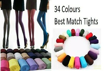 Opaque Tights 34 Colours 40 , 100 Denier Ladies Opaque Best Match Tights S/M/L