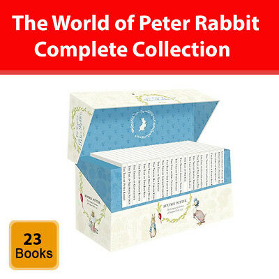 World of Peter Rabbit complete collection 23 books box set by Beatrix Potter NEW