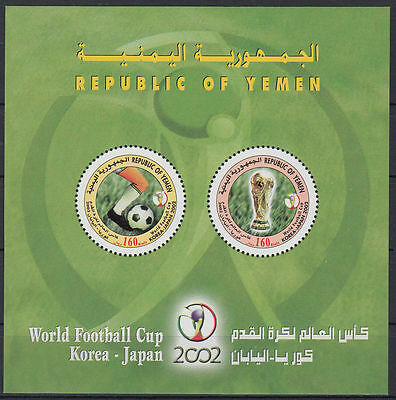 Yemen Republic 2002 ** Bl.32 Fußball Football World Championship, round stamps