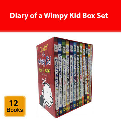 Diary of a Wimpy Kid collection Jeff Kinney 12 books box set Humorous pack NEW