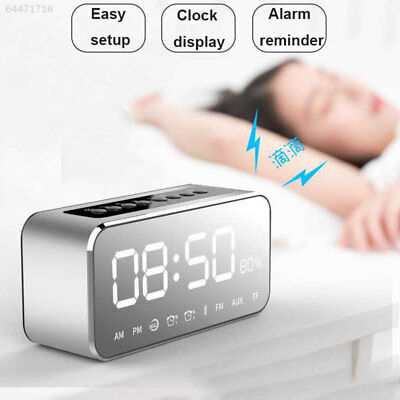 9046 Alarm Clock Portable Wireless Bluetooth Speaker Mic FM Radio MP3 Player