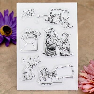 you are so special mouse Scrapbook DIY stamp clear stamps transparent stamp