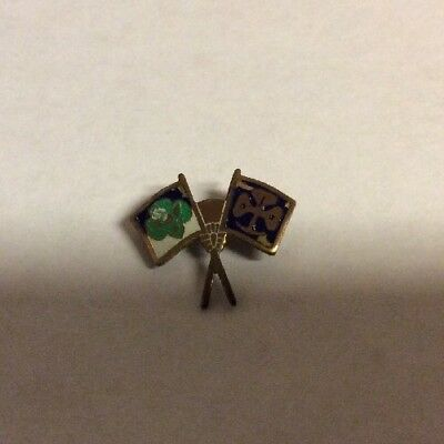 Vintage 1950s? Girl Scout friendship  badge pin enamel 2 flags small(2)