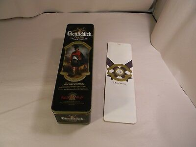 Glenfiddich Scoth Whiskey Tin 1980's With Paper Info Insert