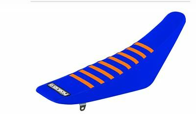 Ribbed Gripper Seat Cover to fit KTM SX 50 2016 - 2019 Blue Orange Motocross