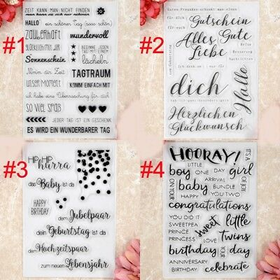 German HALLO DICH FUR DICH Scrapbook DIY clear stamps transparent stamp
