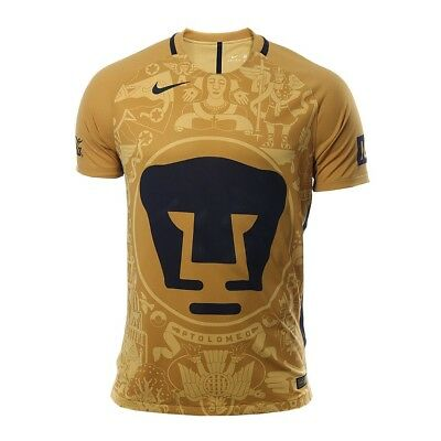 3bfc409f7 Pumas Unam Jersey Pro Nike De Local Color Oro Club Universidad Soccer Mexico