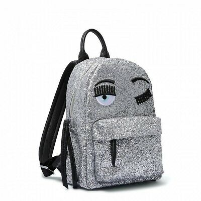 "Silver Backpack Girl Adult Kids (N° 4)  ""Chiara Ferragni"" Cfz004 F/W 2018 [-50%]"