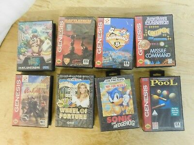 Lot of 8 Sega Genesis Game Case Box and Manual Lot Only