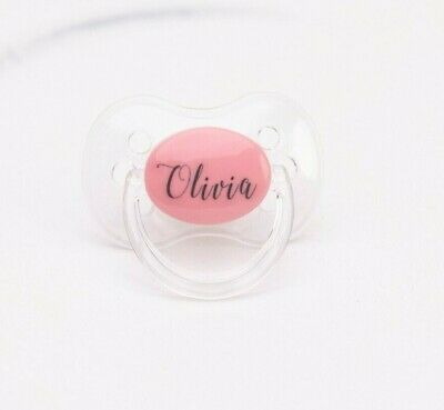Personalised  Avent, Pacifier, Soother *Heart Font* Cherry Teat * Bpa Free