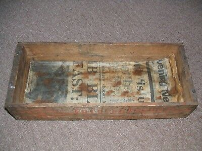 Vintage Primitive Rickety Hand Made Box Old Packing Case 1976 MEN Newspaper