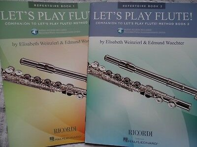 Flöte Let's Play Flute Repertoire Books 1u 2  with Online Audio Woodwind neu