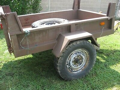 Vintage military trailer/cart Heavy   No Title