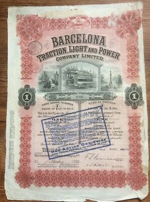 Barcelona Traction, Light and Power 1913