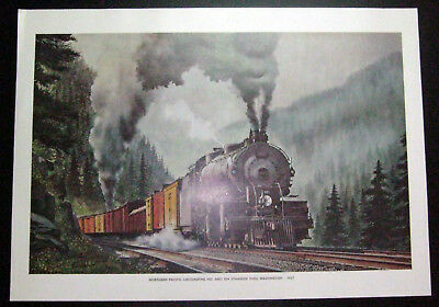 1967 Locomotive Color Print - W.H. Mixer, Inc - Northern Pacific Locomotive  - #