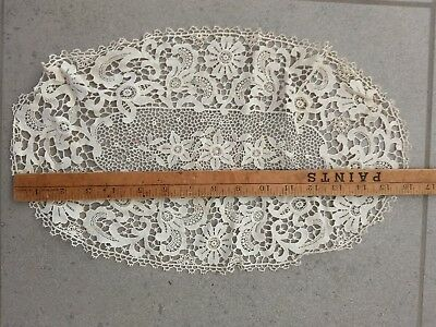 Exquisite Piece Of Vintage Antique Lace Made By The Benedictine Nuns In Ireland