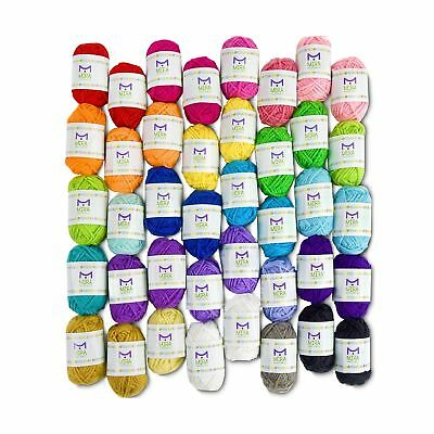 Mira Handcrafts 40 Assorted Colors Acrylic Yarn Skeins with 7 E... FREE SHIPPING