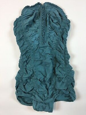 VINTAGE CATALINA 1940s 50's Swimsuit PIN UP RUCHE RUFFLES ONE PIECE BATHING SUIT