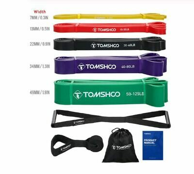 Exercise Bands Pro Set Rubber Resistance StrechTrain Latex Pull Up Rope Home Gym