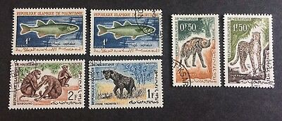 6 nice old animals stamps Mauritanie