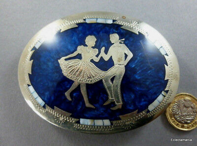 Johnson & Held Hand Crafted Belt Buckle COUNTRY & WESTERN Jive Dancing #896