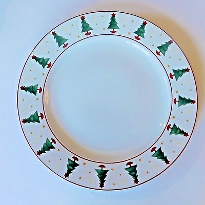 Sakura 1998 Magic Of Santa Dinner Plate Tray Debbie Mumm Christmas Tree Stars