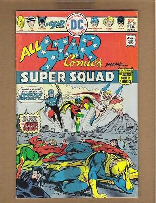 ALL STAR COMICS #58 (FN- 5.5) ~1st Power Girl~ 1976 Justice League movie? n3824