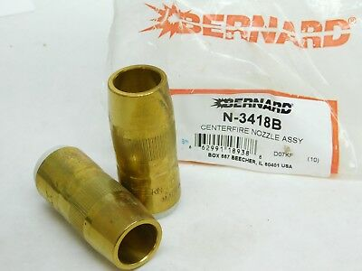 PACK OF 2! Bernard N-3418B Centerfire Nozzle Assembly NEW OLD STOCK! FREE SHIP!
