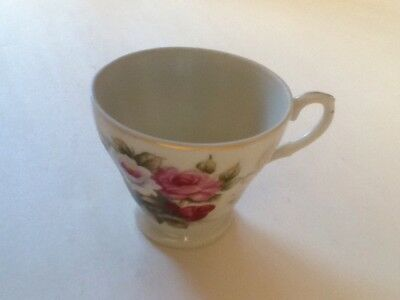Vintage Miniature China Tea Cup - Made In Japan - Gilded trim - Floral pattern