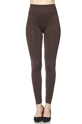 74fac7731b8803 NWT Boutique Women's Solid Color Seamless Full Length Leggings OS Plus  Curvy NEW