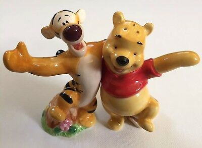 Disney's Winnie the Pooh and Tigger Ceramic Salt and Pepper Shakers