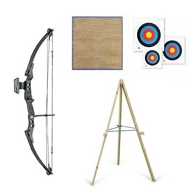 Archery Compound Bow and Arrow 55lb Adult Package Arrows Target & Stand
