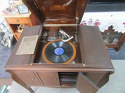 Antique 1920 Rca Victor Victrola Vv-240 66072 Phonograph Record Player  Records