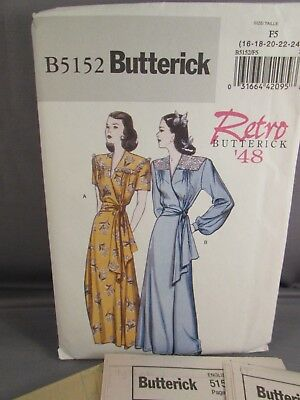 Butterick  Uncut Pattern B5152  Misses Robe and Belt   Size:16-24
