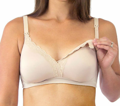 5cc6d81992 LOVING MOMENTS LEADING Lady Maternity Nursing Bra Wire-free XL 36 38 ...