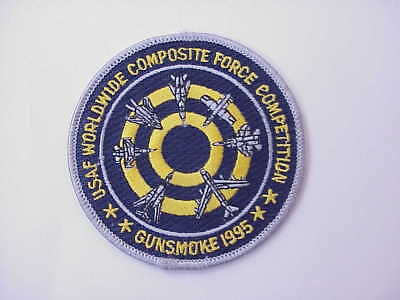 """VINTAGE """"Gunsmoke"""" 1995 USAF Worldwide Composite Force Competition Patch"""