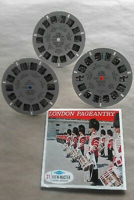 Vintage late 50s Sawyer Viewmaster C295 3 reel set London Pageantry